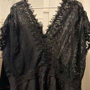 Sz 16W Plus Roamans Black Boho Summer Dress